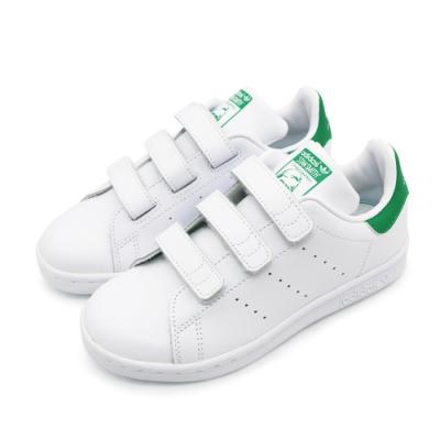ADIDAS STAN SMITH CF C 童 休閒鞋 白綠