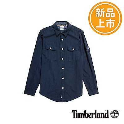 Timberland 男款深藍色Overshirt長袖襯衫