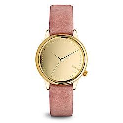 KOMONO Estelle Mirror 腕錶-珊瑚紅x琥珀金/36mm