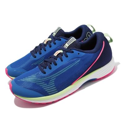 Mizuno 慢跑鞋 Duel Sonic 2 運動休閒 男鞋 美津濃 路跑 緩震 輕量 耐磨 藍 綠 U1GD2134-25