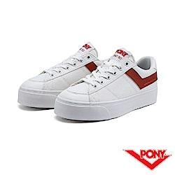 【PONY】PRO 80系列-經典復古休閒鞋-女-橘紅