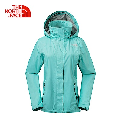 The North Face北面女款藍色防水透氣防風外套|3LBKN2P
