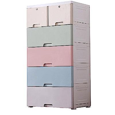 [時時樂限定]IDEA-馬卡龍色系60cm寬五層抽屜衣物玩具收納櫃
