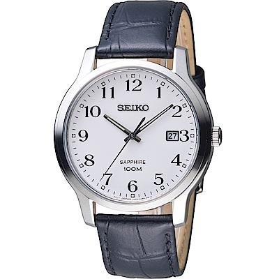 SEIKO 精工 經典設計都會時尚男錶-皮帶款 7N42-0GE0C