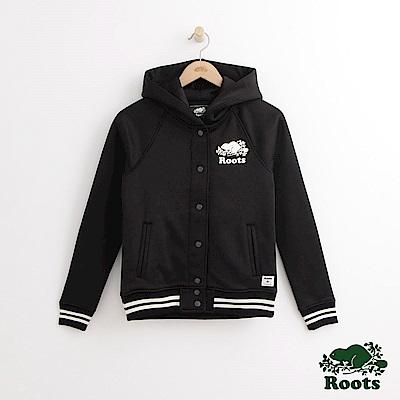 Roots 女裝- 學院風連帽夾克- 黑
