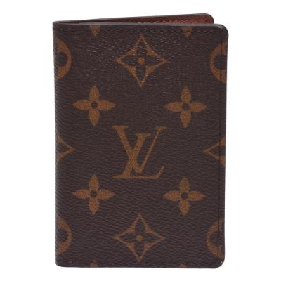 LV M60502經典Monogram帆布印花對折卡片夾
