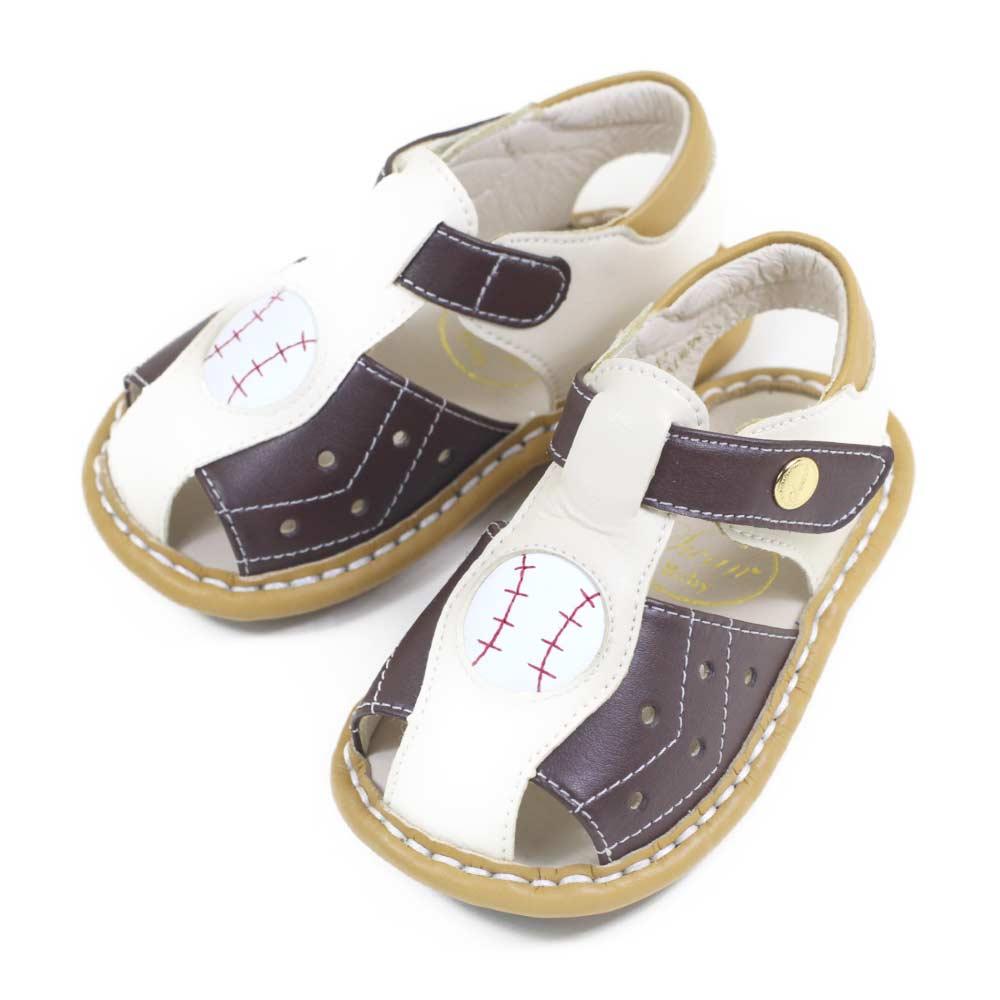 Swan天鵝童鞋-棒球男孩寶寶涼鞋1575-咖