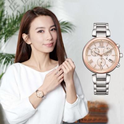 CITIZEN 星辰 XC 廣告款光動能計時女錶-35mm FB1455-50W