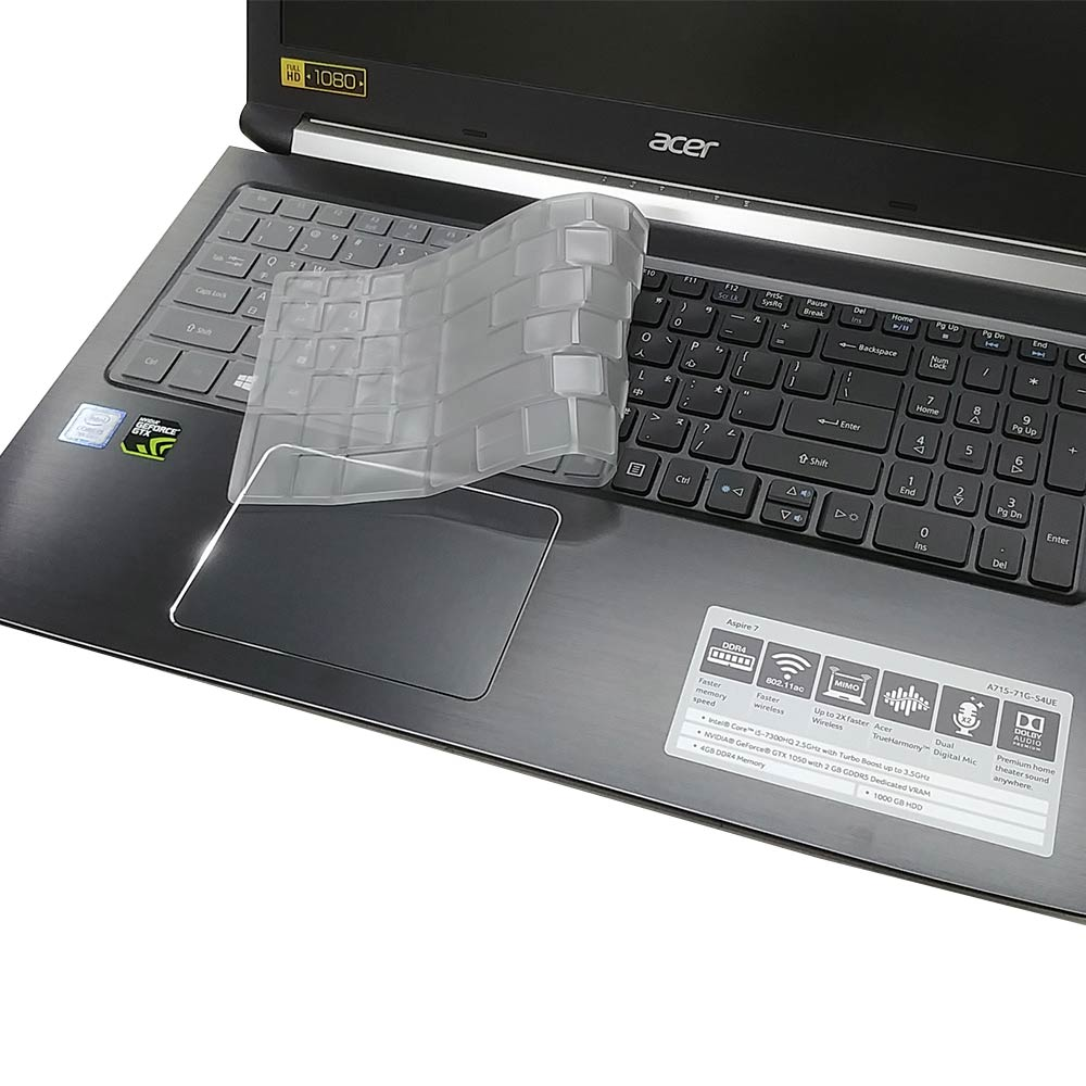 EZstick ACER A715-72 G 奈米銀抗菌 TPU 鍵盤膜 product image 1
