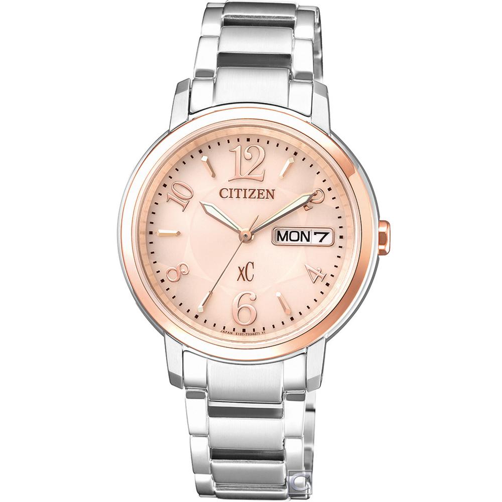 CITIZEN  xC自信魅力光動能腕錶(EW2424-50W)33mm @ Y!購物