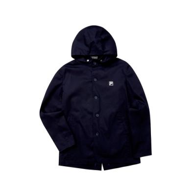FILA 男平織外套-丈青 1JKT-5705-NV