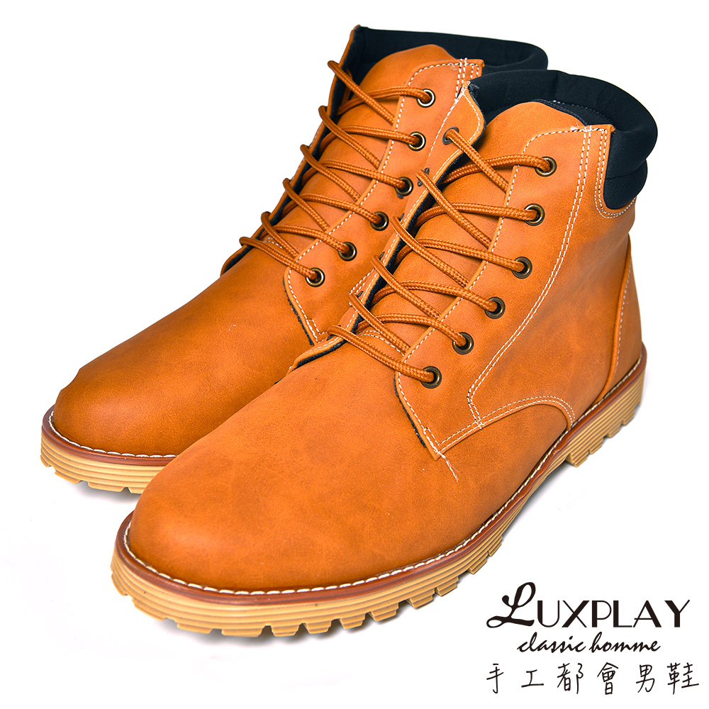 LUXPLAY  男款 經典羊巴戈輕手感黃靴 CF920棕