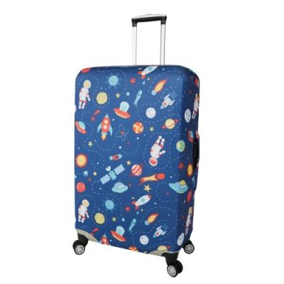 CS0457L太空探險 L號26-28吋日版彈力拉桿箱保護套 行李箱套