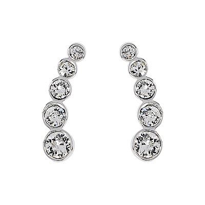 SWAROVSKI 施華洛世奇 HARLEY EARLOBE璀璨水晶銀色耳環