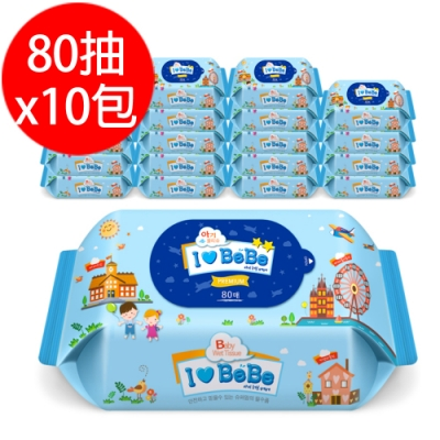 韓國ilovebebe 加厚濕紙巾80抽x10包