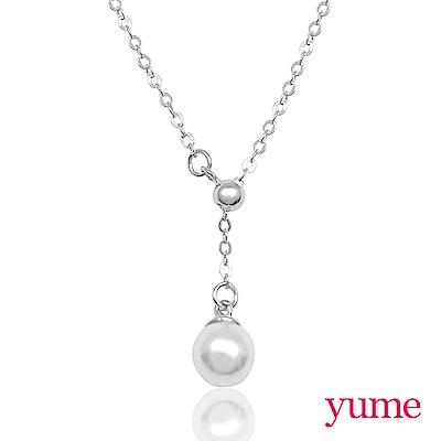YUME 優雅珍珠Y字鍊(金色/銀色)