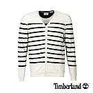 Timberland 男款深寶石藍V領條紋針織外套|A1M33