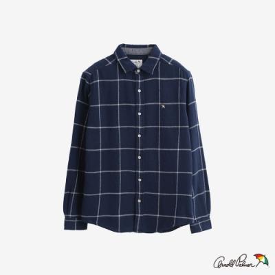 Arnold Palmer -男裝-棋盤格紋休閒襯衫-藍色