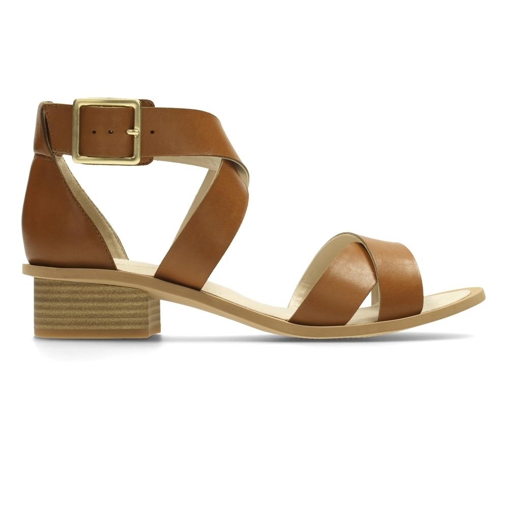 Clarks Sandcastle Ray 女涼鞋 棕
