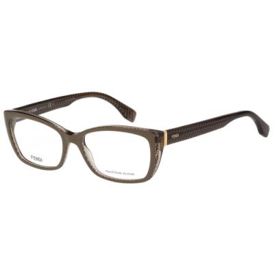 FENDI 經典LOGO 光學眼鏡(奶茶色)FF0003