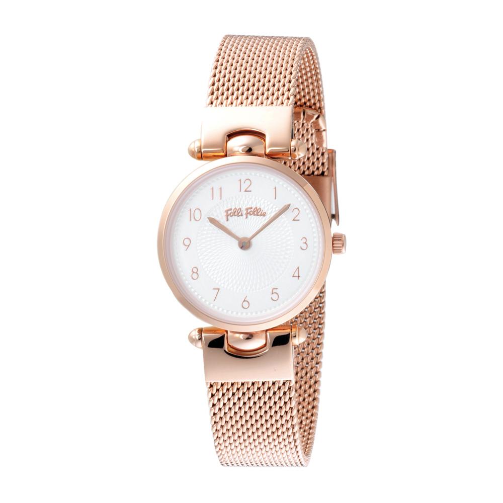 Folli Follie 簡約核心精緻腕錶-玫瑰金(WF17R014BSS-XX)