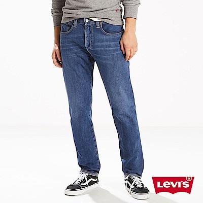 Levis 男款 上寬下窄 502 Taper牛仔長褲 彈性布料 湛藍刷白
