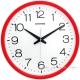 RHYTHM日本麗聲 現代簡約高CP值超靜音壁掛鐘-玫瑰紅/36cm product thumbnail 2