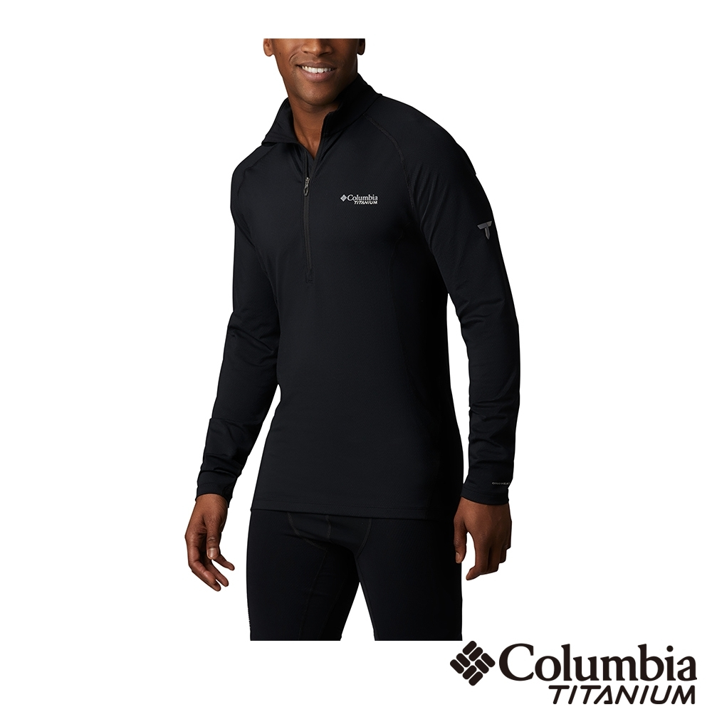 Columbia 哥倫比亞 男款- 鈦 Omni HEAT3D鋁點保暖快排立領上衣