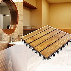 【Incare】實木日式木紋萬用隔水地板(10入組)