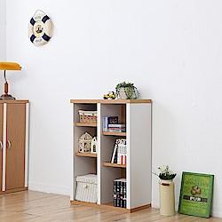 《Accessco》日系雙色六格厚板收納書櫃(60x30x90cm)