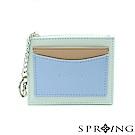 SPRING-春日卡片零錢包-淺綠x藍