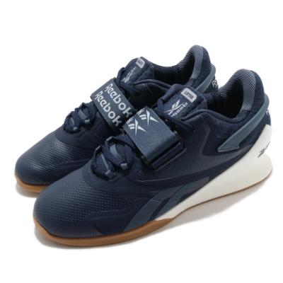Reebok 訓練鞋 Legacy Lifter II 運動 男鞋 健身房 支撐 穩定 重量訓練 球鞋 藍 白 FU9460