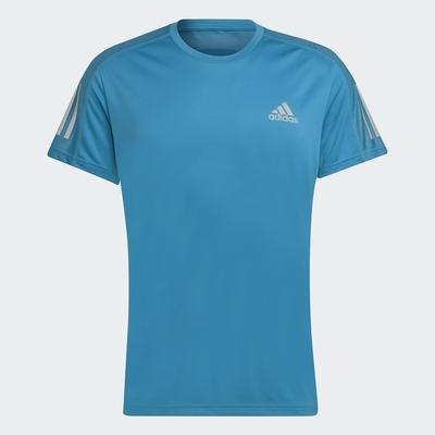 ADIDAS 愛迪達 短袖 短袖上衣 運動 男款 藍 H34492 OWN THE RUN TEE