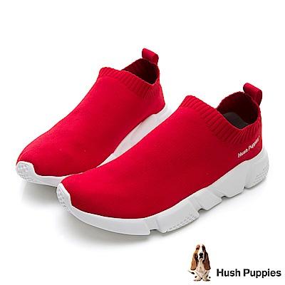Hush Puppies Osprey 低筒襪套式針織休閒鞋(女)-紅