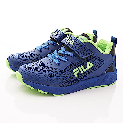 FILA頂級童鞋 酷炫網狀運動款 FO08T-306藍(中大童段)