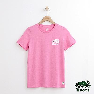 Roots -女裝- 庫柏海狸T恤-粉