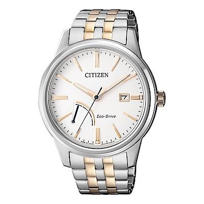 CITIZEN GENTS時尚風格光動能腕錶/半金/AW7004-57A