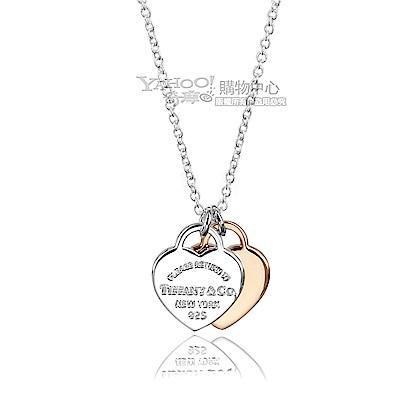 Tiffany&Co. 金銀雙色迷你愛心墜飾項鍊