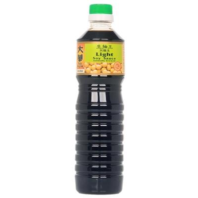 新加坡大華-純釀造淡醬油(生抽)640ML