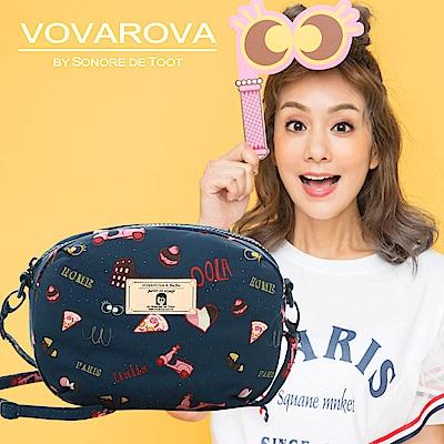 VOVAROVA x 莎莎-圓鼓鼓側背包-金莎假期-環遊世界系列