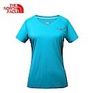The North Face北面女款綠色吸濕排速乾短袖T恤 | 3GEKEY3