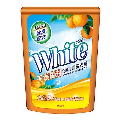 白帥帥 天然橘油抗菌洗衣精-補充包1650gx6瓶