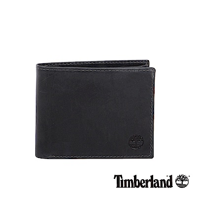Timberland 黑色牛皮短夾錢包|A1DK9