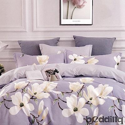 BEDDING-100%棉單人4.5x6.5尺薄式被套-玉蘭花開-紫