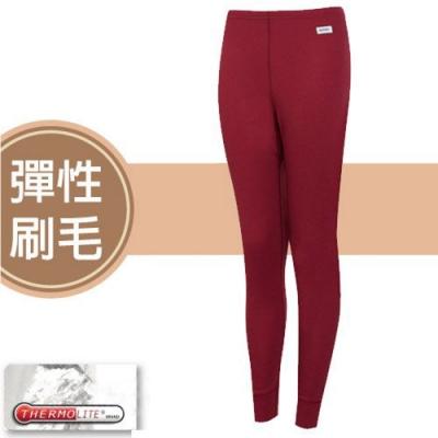 瑞多仕 女款 Thermolite 長刷毛保暖長褲_DB4531 草莓紅色