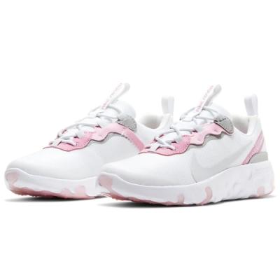 NIKE 童鞋 中童 運動鞋 休閒 輕量 白 粉 CK4082102 RENEW ELEMENT 55 PS