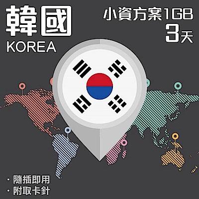 【PEKO】韓國上網卡 3日高速4G上網 1GB流量 優良品質