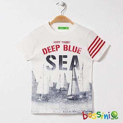 bossini男童-印花短袖T恤12灰白