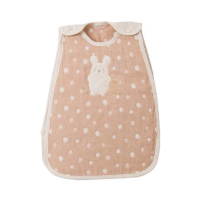 【Amorosa Mamma】有機棉嬰兒五重紗睡袋防踢被-小兔