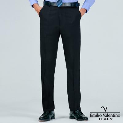 Emilio Valentino 范倫提諾商務平面西裝褲-丈青